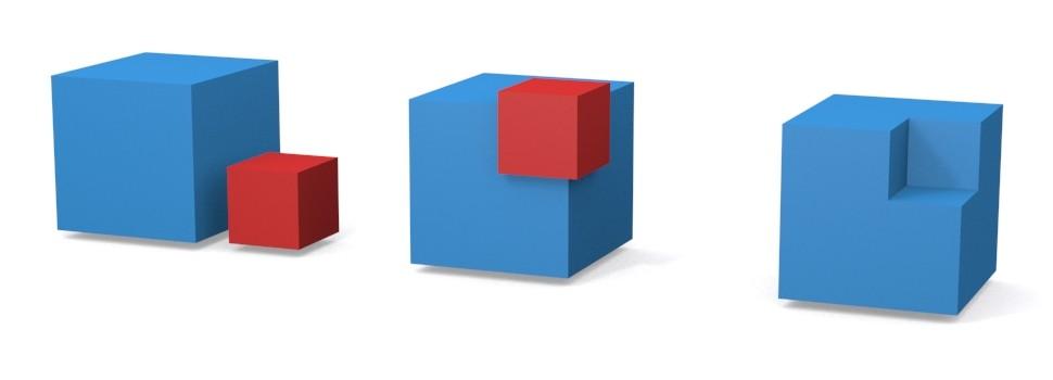 Tvorba objektov – boolean rozdielové funkcie