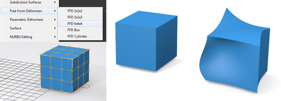 Tvorba objektov – FFD modelovanie